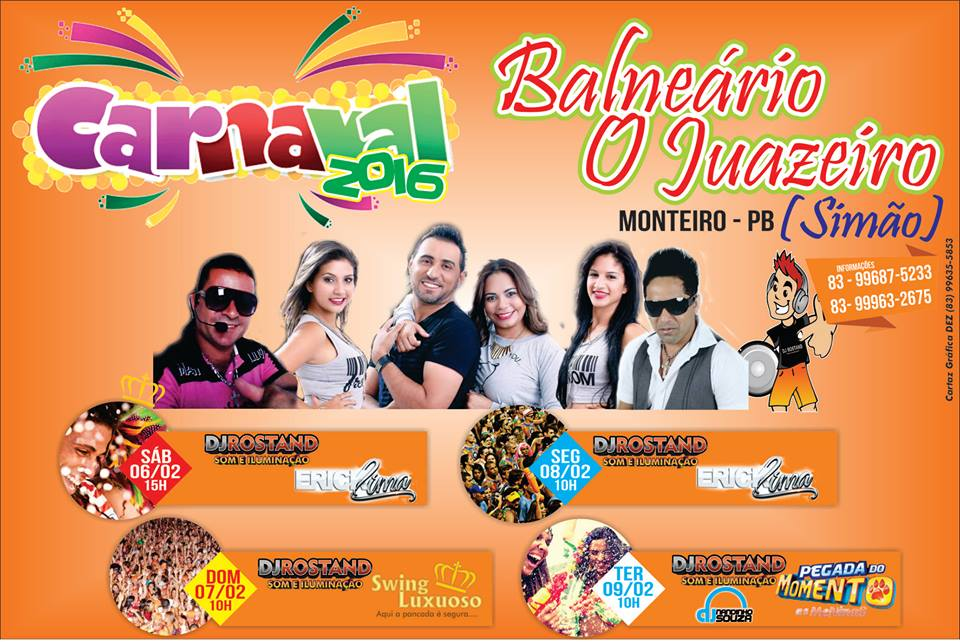 bALNEARIO-CAJUEIRO Carnaval 2016 é no Balneário o juazeiro do Amigo Simão