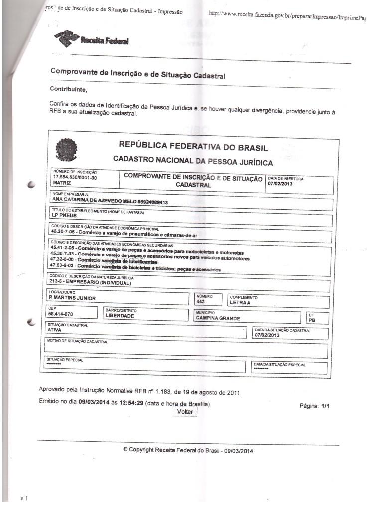 cnpj-catarina-001-745x1024 Vereador Luciano Gordo denuncia prefeito Zé Arnaldo por comprar material de expediente em loja de pneu e pede afastamento do prefeito do cargo
