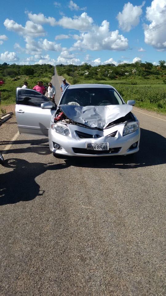 12924519_762961580472695_4416054108309317111_n Exclusivo: Monteirense colide carro contra uma vaca em rodovia da PB