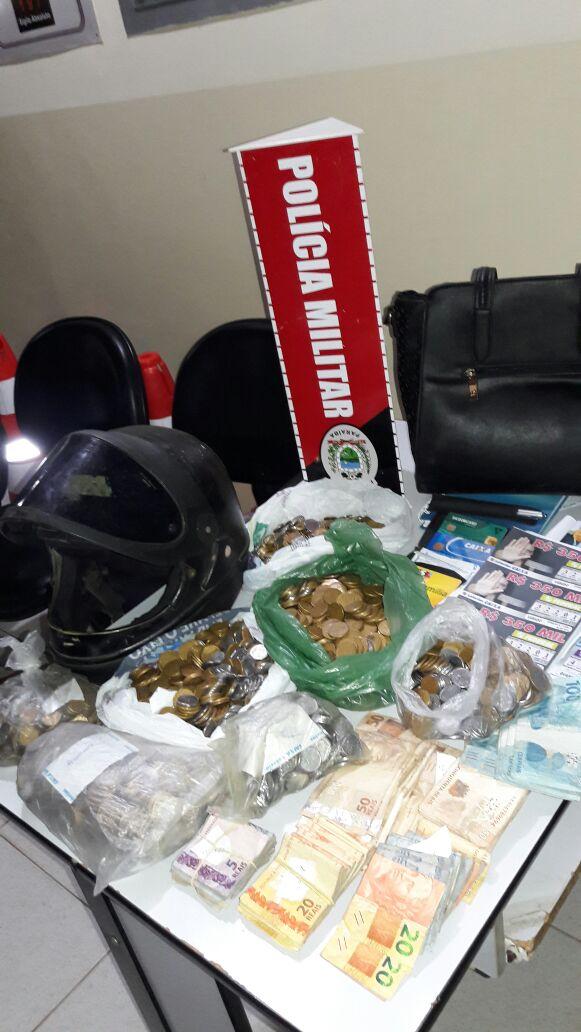 5d6eceb2-15d4-4d60-a1c7-e8f6d72d9e67 Policia Militar recupera dinheiro roubado na casa lotérica de Prata