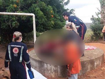 16821336280003622710000 Mãe se joga com filho deficiente em cisterna e jovem acaba morrendo afogado, na PB