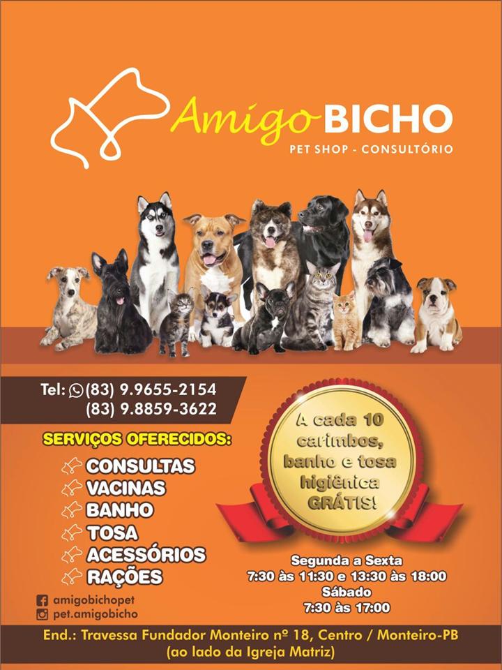 Apresentação1 Em Monteiro Pet Shop e consultório Amigo Bicho