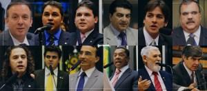 deputados-montagem Deputados federais da PB gastam R$ 2,6 milhões com cota parlamentar