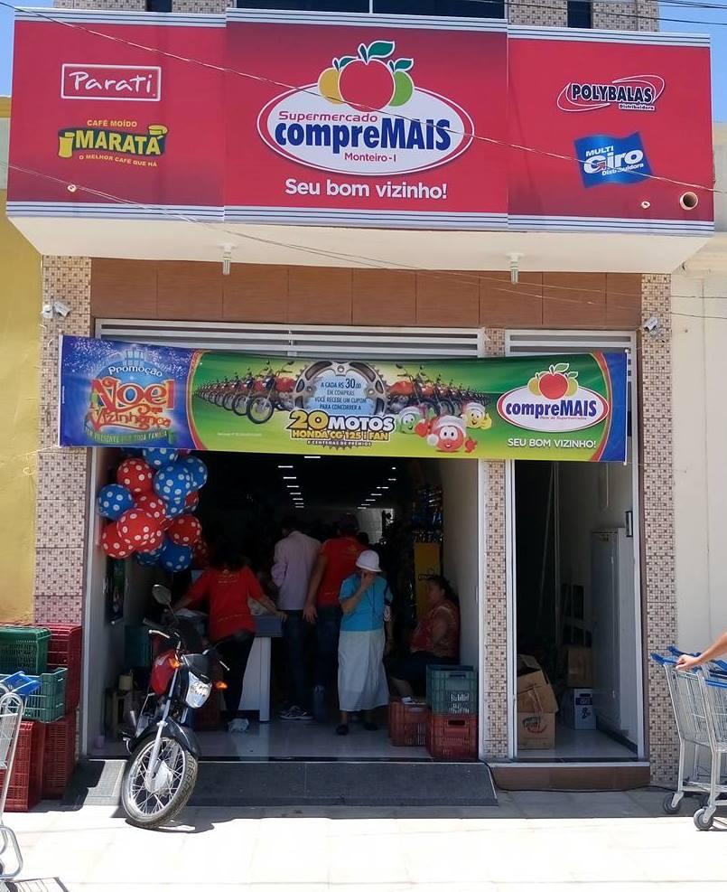 Compre-mais-Marivaldo-Berto Supermercado Compre Mais é inaugurado em Monteiro