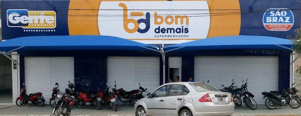 BOM-DEMAIS-SUPERMERCADOS-1024x397 Em Monteiro: Bom de Mais Supermercado adota controle de entrada e saída de clientes