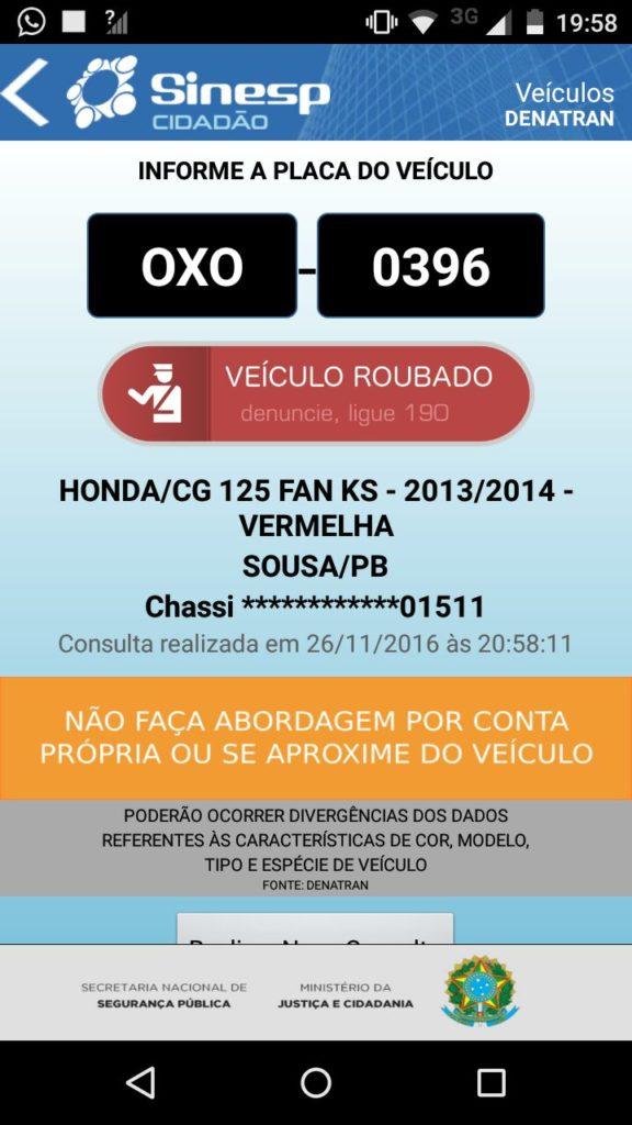SINESP-576x1024 Moto com restrição de furto é apreendida em Monteiro