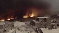 p04fp0lp Nuvem negra: Estado Islâmico queima poços de petróleo na batalha por Mossul