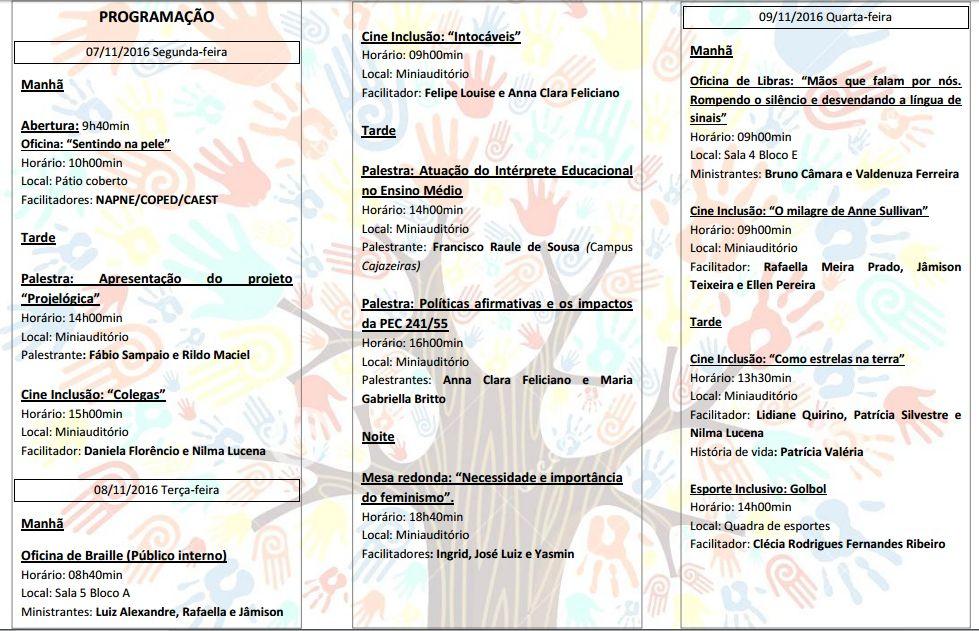 programacao IFPB Campus Monteiro realiza I Semana da Inclusão