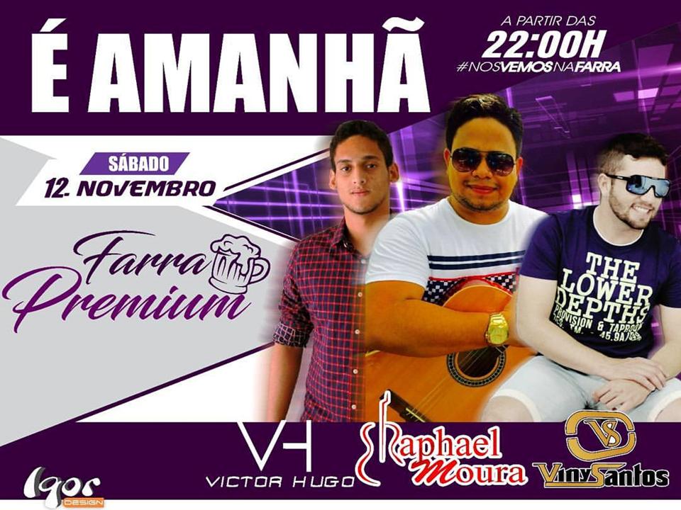 show É AMANHÃ! O show do ano, Rafael Moura, Victor Hugo e Vini Santos