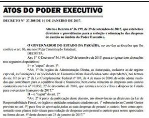 Decreto-310x245-300x237 Diário Oficial: decreto cria Plano de Contingência para reduzir as despesas do Governo do Estado