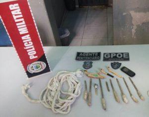 b36bee68-64dc-42ef-ae73-efa29ccf30f0-300x236 Operação Pente Fino é realizada na Cadeia Pública de Monteiro