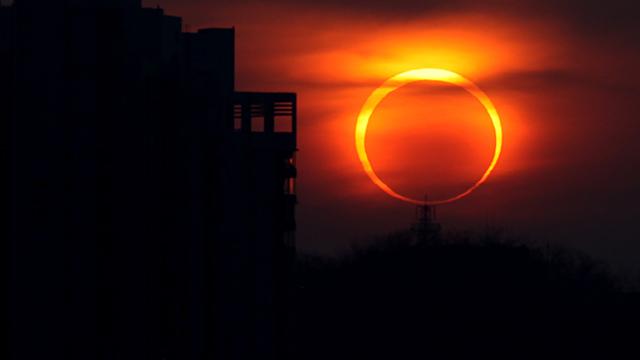 Eclipse-solar-anular Eclipse solar poderá ser visto em Taperoá no Cariri e mais duas cidades da PB este mês