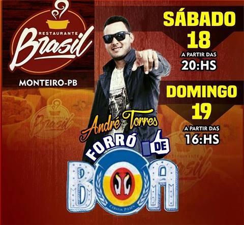 17352520_1405689022828246_5306544757795841892_n É Hoje! Música ao vivo no Restaurante Brasil, Andre Torres forro de boa a partir das 20 Horas