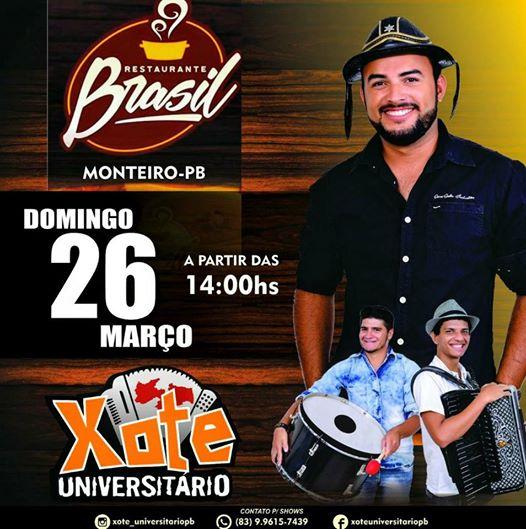 17457978_162523344267522_6885477406178518143_n Amanhã no Restaurante Brasil tem, Xote Universitário