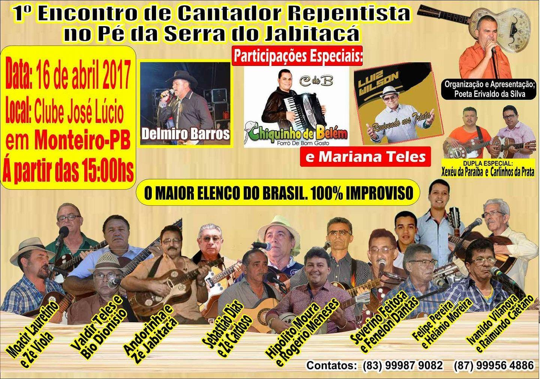 17504289_10202918870569341_2606999658825339690_o 1º Encontro de Cantador Repentista no PÉ da Serra do Jabitacá.