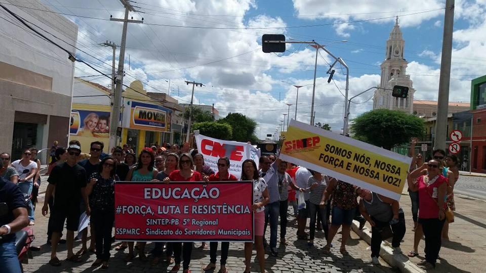 17498933_1846561962252215_4444547526673968036_n-3 Protesto contra a reforma da previdência e terceirização e realizada em Monteiro
