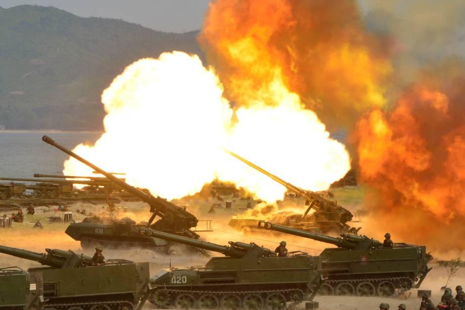 2017-04-26t090317z_976396550_rc1834d57140_rtrmadp_3_northkorea-usa Coreia do Norte: primeiras fotos de exercício militar divulgadas