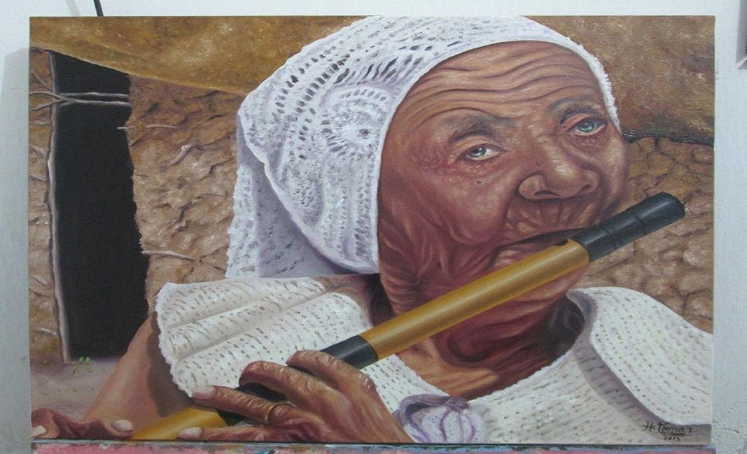 Sezabe Artista Plástico monteirense retrata Monteiro e Artistas populares em suas Telas