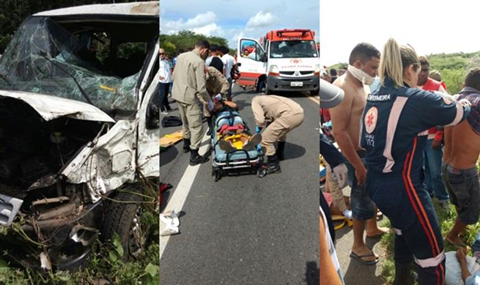 acidentevan2 Grave acidente envolvendo Van deixa dezenas de feridos na BR 230