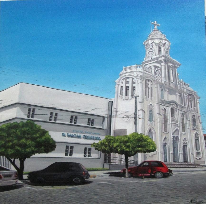 igreja-matrix Artista Plástico monteirense retrata Monteiro e Artistas populares em suas Telas
