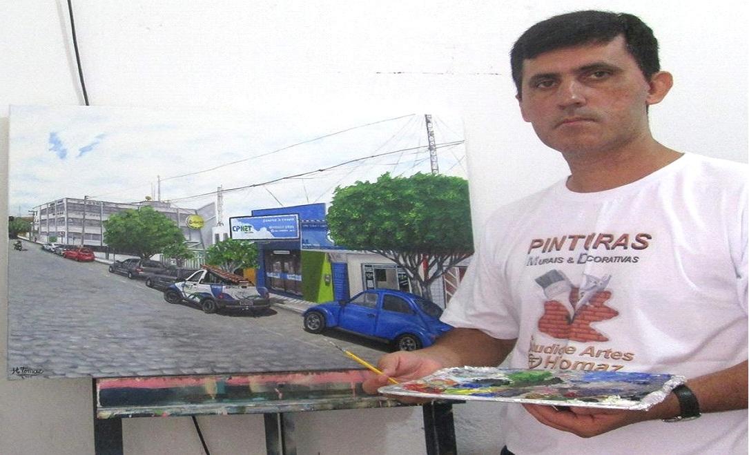 tomaz2 Artista Plástico monteirense retrata Monteiro e Artistas populares em suas Telas