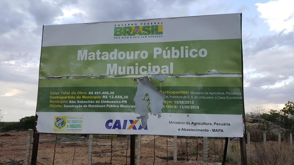 umb2 Obra de quase meio milhão de reais esta abandonada e secretaria empenha mais de 1 milhão em São Sebastião do Umbuzeiro