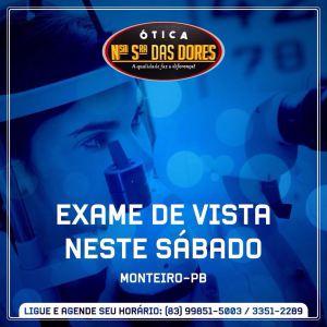 otica-nossa-senhora-das-dores.jpg-10 Haverá exame de vista neste sábado na Ótica Nossa Senhora Das Dores em Monteiro