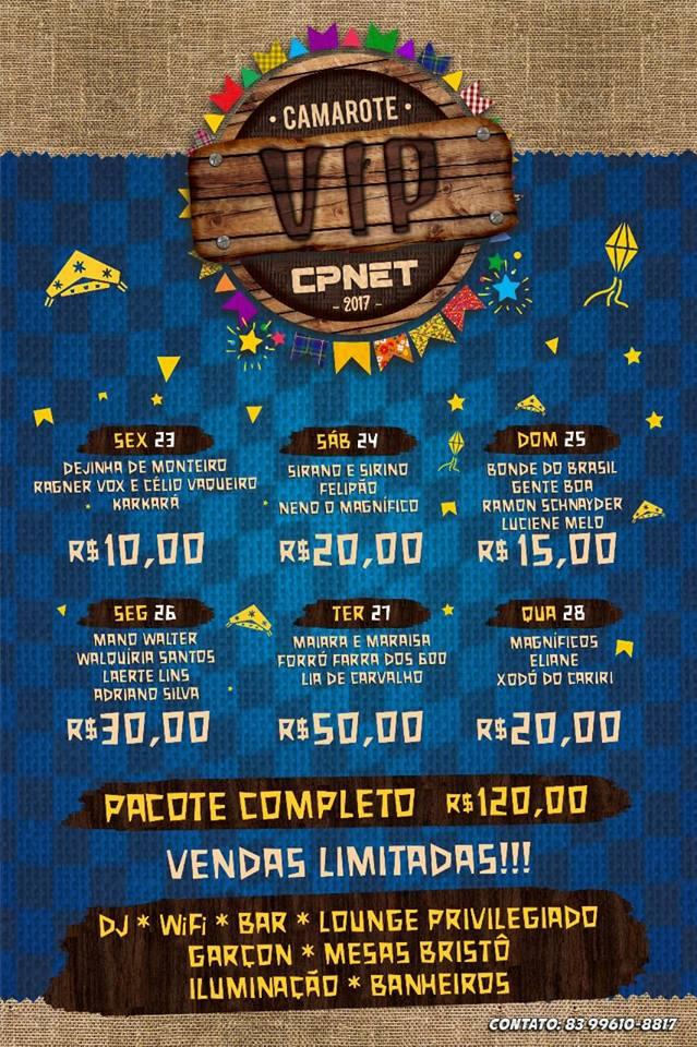 camarote-vip-cpnet Começaram as Vendas do 1° lote de ingressos para o camarote vip da CPNET, no São João de Monteiro 2017