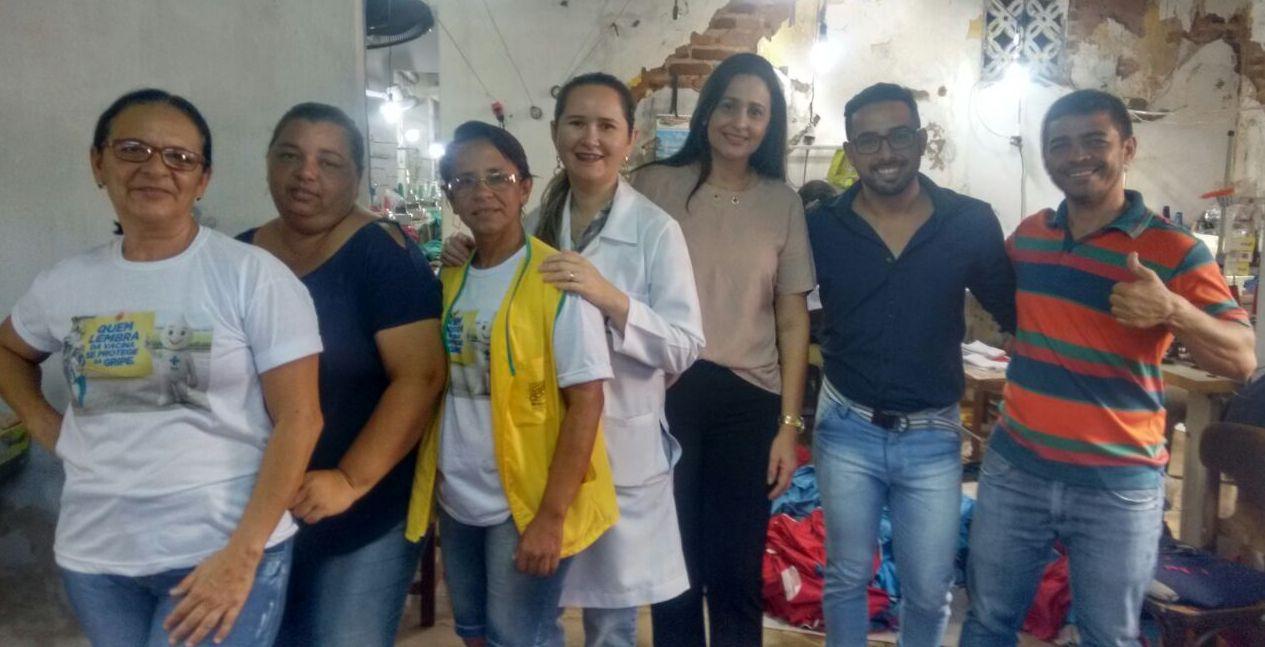 saude_adriana_fabrica-300x153 Secretaria de Saúde de Monteiro oferece serviços aos trabalhares de fábrica
