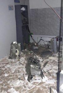 banco-explosao-204x300 Quadrilha invade Serra Branca explode agências do Correios e Bradesco