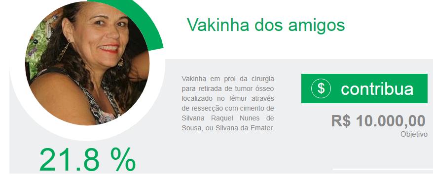 sss Solidariedade: Vakinha dos amigos para arrecadar fundos para uma cirurgia da amiga Silvana Nunes