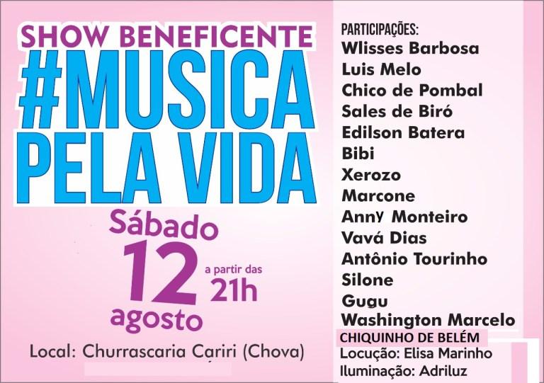 """SILL-1 É Hoje ! Show Beneficente """"Musica pela Vida"""" dia 12"""