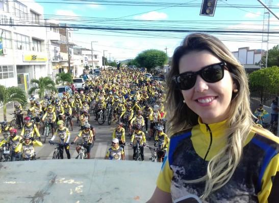 ana Monteiro realiza um dos maiores encontros de ciclistas da Paraíba