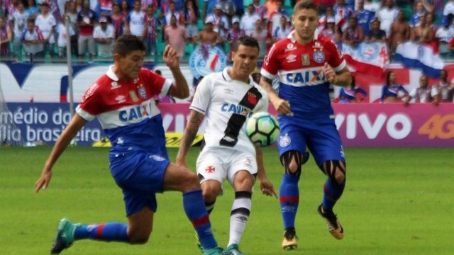 vasco-bahia Vasco é goleado por 3 a 0 para o Bahia e se complica no Campeonato Brasileiro