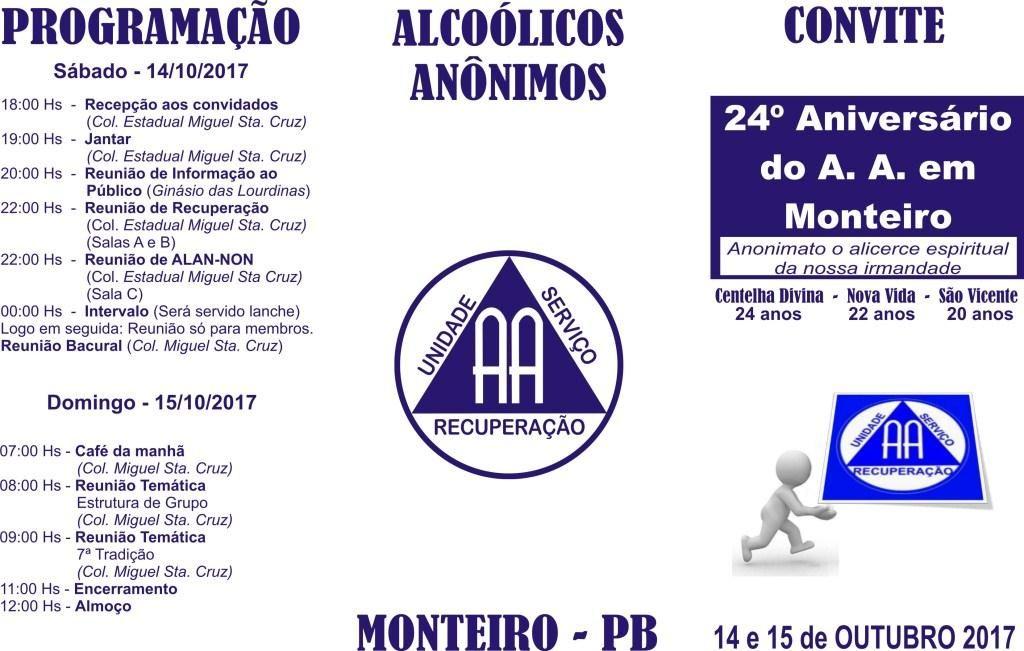 09e930e5-147e-4fa5-bef8-dba6c1c7f6fa-1024x651 Alcoólicos Anônimos de Monteiro comemoram 24ºAniversário neste Sábado e Domingo.
