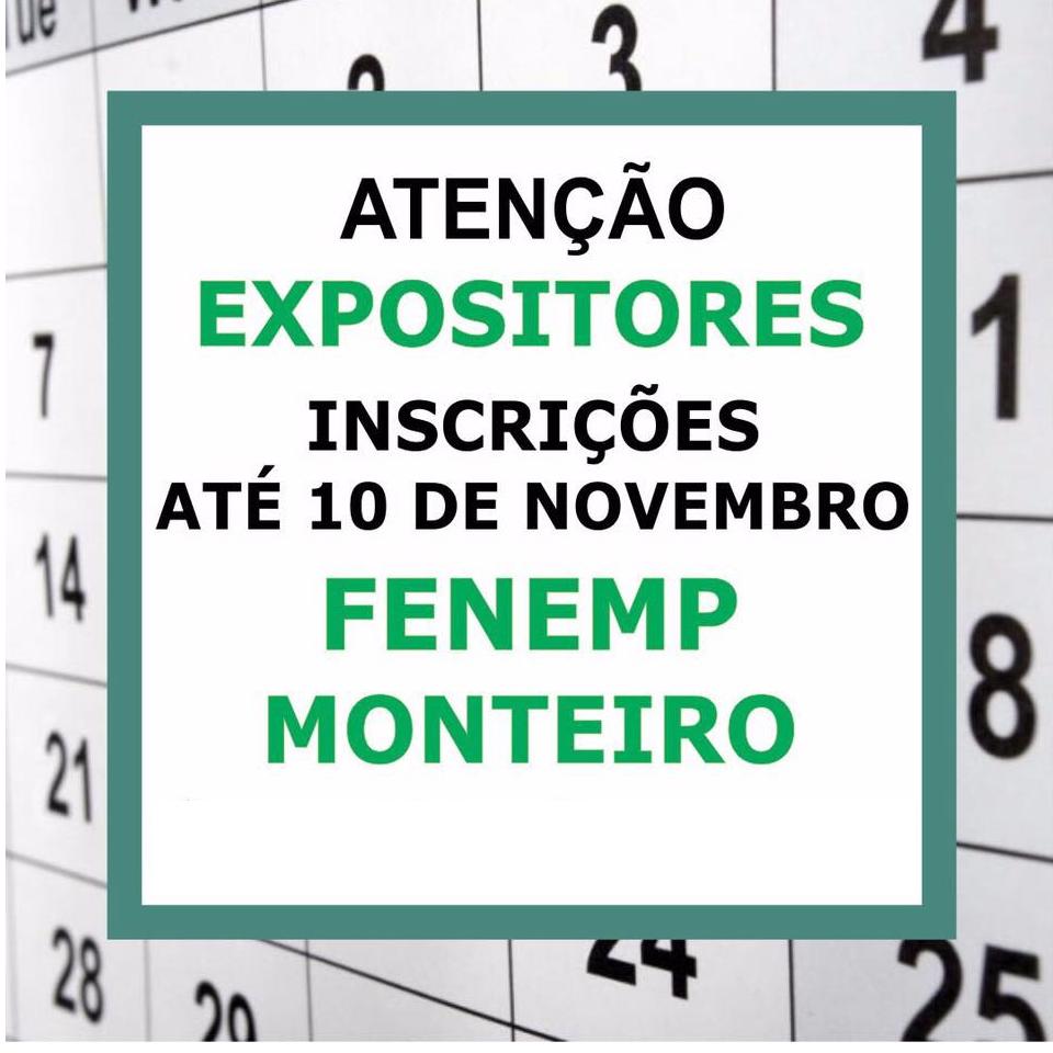 aaaa Inscrições para o FENEMP Monteiro vão até dia 10 de novembro