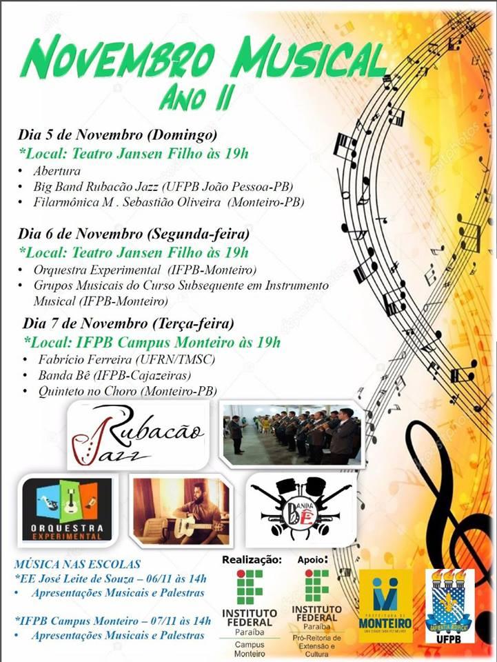 23130728_1555732484519813_6067791322490379284_n Projeto Novembro Musical Ano II em Monteiro