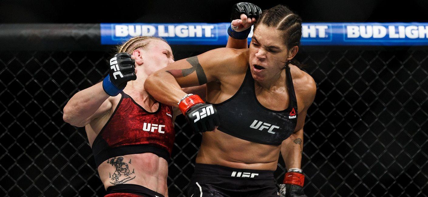"""amanda_nunes Monteirense Amanda Nunes mira título dos penas, mas Cyborg avisa: """"Não quero lutar com brasileira"""""""