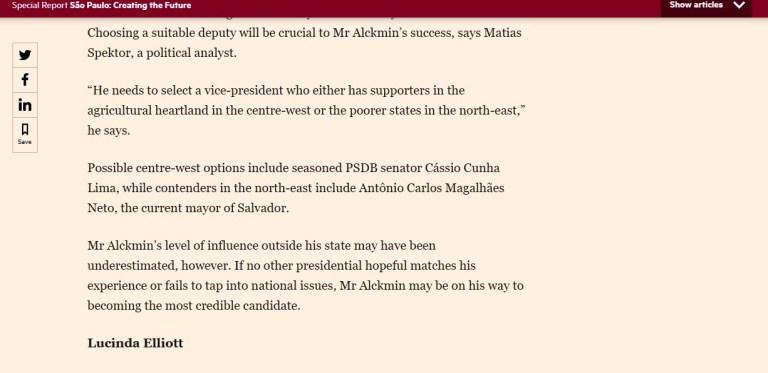 cassiofinancialtimes Financial Times: Cássio é opção na vice de Alckmin