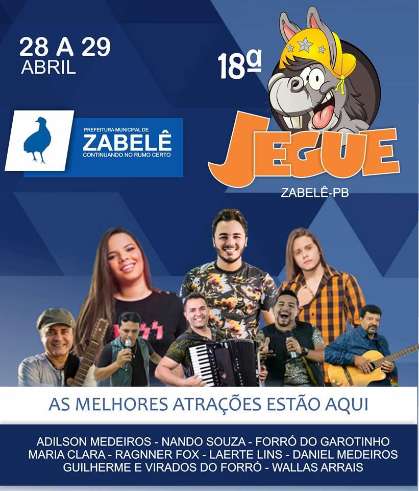 festa-do-jegue-de-zabele 18ª Corrida de Jegue acontece de 28 a 29 de Abril em Zabelê; confira programação