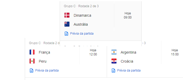 CCDDD Copa do Mundo 2018 JOGOS DE HOJE 21/06/ 2018