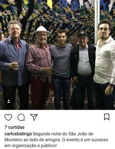 """Screenshot_20180624-0100523 Batinga elogia organização do São João de Monteiro """" sucesso em organização"""""""