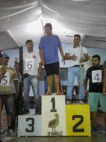 TORNEIO-SINUCA-ZABELE Foi um sucesso o 3º torneio de sinuca pequena realizado no ultimo domingo (03/06) em Zabelê
