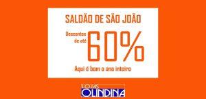 saldao-olindinas-300x144 Saldão de São João Lojas Olindina com Descontos de até 60 %
