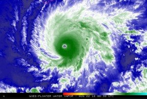 furacao-lane-300x203 Furacão Lane atinge nível 5 na trajetória para o Havaí