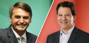 jair-bolsonaro-x-fernando-haddad--300x146 Ibope: Bolsonaro tem 59% dos votos válidos no 2º turno; Haddad tem 41%