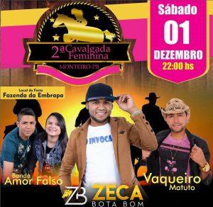 47056301_2482112245243799_4691440460147720192_n-300x292 É HOJE: 2ª Cavalgada Feminina em Monteiro com Zeca Bota Bom, Vaqueiro Matuto e Banda Amor Falso