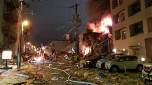 explosão-japão Vinte pessoas ficam feridas em explosão no Japão