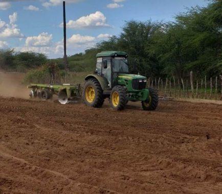 aração-de-terras-434x380 Secretaria de Agricultura realiza aração de terras e distribuição de mais de 100 mil raquetes de palmas