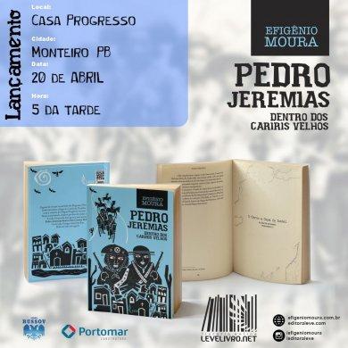 livro_pedro_jeremias-390x390 Em Monteiro: Lançamento do livro 'Pedro Jeremias' na Casa Progresso